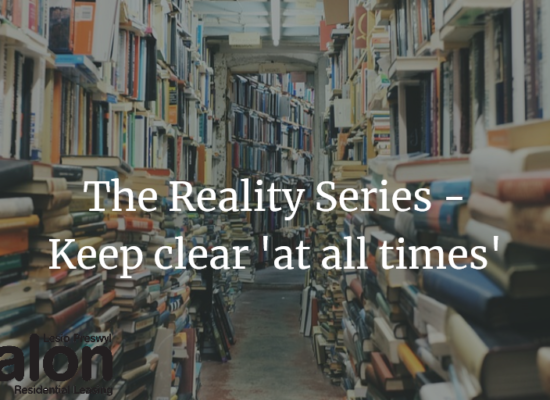 The reality series keep clear at all times